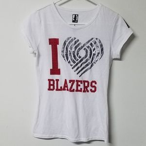 🏀 RARE I heart love trail blazers juniors M